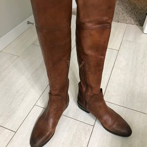 OVER THE KNEE BROWN RIDING BOOTS